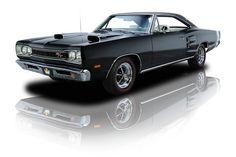 1969 Black Dodge Coronet RT 440 Magnum 375 HP