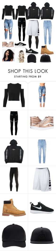 """""""squad goals💯💯💯"""" by jay-queenslay ❤ liked on Polyvore featuring Givenchy, Vans, Topman, Puma, NIKE, Timberland, Miss Selfridge, Stussy and adidas"""