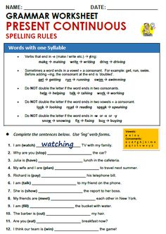 Quality ESL grammar worksheets, quizzes and games - from A to Z - for teachers & learners PRESENT CONTINUOUS