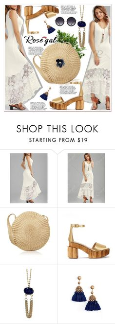 """""""Lace Panel Maxi Tank Dress-Rosegal"""" by spenderellastyle ❤ liked on Polyvore featuring Tory Burch, Loren Hope, Alice + Olivia, maxidress, polyvoreeditorial, rosegal and Dressunder50"""
