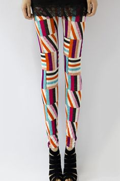 Fashion Geometry Printed Leggings OASAP.com