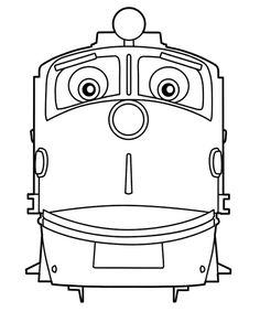 chuggington coloring pages for kids to color during the party to entertain them - Chuggington Wilson Coloring Pages