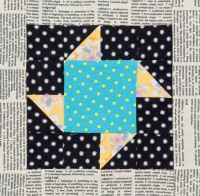 Paper Pinwheels block from the book 25 Patchwork Quilt Blocks Volume 2 by Katy Jones