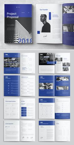 **Project Proposal** is editorial layout template with Indesign document/template and designed in both and US Letter Company Brochure Design, Graphic Design Brochure, Brochure Layout, Brochure Template, Indesign Templates, Adobe Indesign, Corporate Brochure, Magazine Layout Design, Book Design Layout