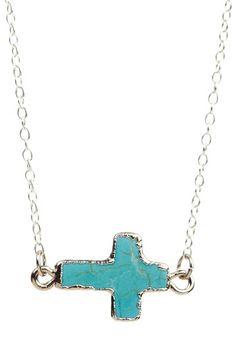 Ceek Jewelry Sideways Cross Pendant Necklace by One-Of-A-Kind Finds on @HauteLook