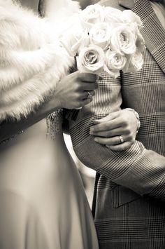 Sepia toned wedding day