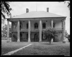 Chretien Point Plantation, 1831 -- Sunset vic., St. Landry Parish, Louisiana