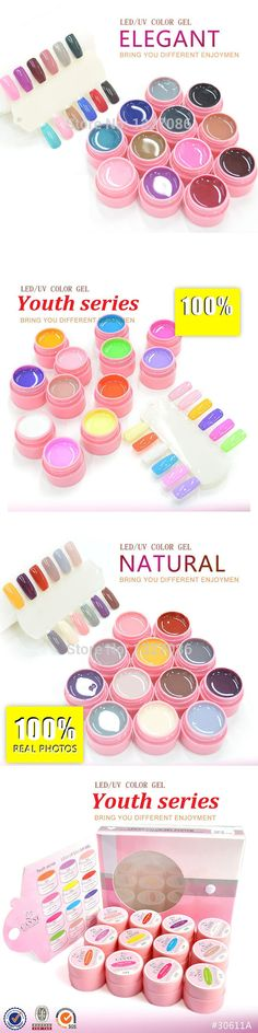 12 Colors LED UV Gel Cover Pure Soak Off Natural UV Nail Art Tips Youth Elegant Natural Series CANNI