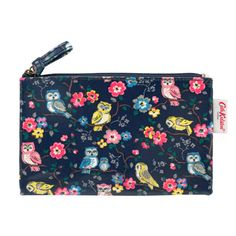 Mini Owls And Flowers Zip Purse