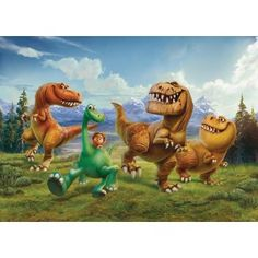 Disney / Pixar The Good Dinosaur Wall Mural by RoomMates Arlo Disney, Cartoon Disney, Disney Pixar, Le Voyage D'arlo, Arlo Und Spot, Collection Disney, Spiderman, The Good Dinosaur, Cross Paintings