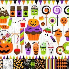 Fall Clipart Autumn Clipart Fall Harvest Clipart Pumpkins | Etsy Halloween Clipart, Spooky Halloween, Halloween Treats, Halloween Decorations, Dinosaur Outline, Cute Dinosaur, Candy Clipart, Art Clipart, Fall Clip Art