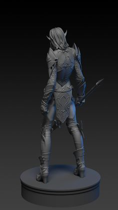 ArtStation - dark elf in blue wolf set (lineage 2), Alexey Zhuravlev