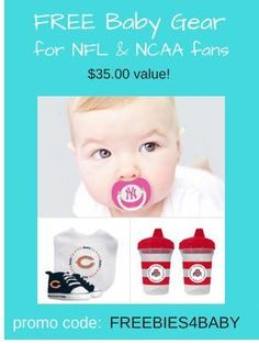 Free Baby Fan Gear - $35 value.  These baby products make great baby shower gifts!  Use code: FREEBIES4BABY at checkout.  Go Here = http://freebies-for-baby.com/4571/424-worth-free-baby-stuff/  #FreeBabyGear  #FreeBabyStuff  #BabyShowerGifts