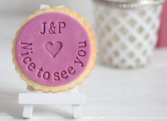 Nice to see you - Fondantstempel / Cookie stamp / Keksstempel von DeinKeksstempel auf Etsy