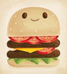 gregabbott:  Burger Available at Society6.