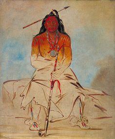 Native American George Catlin Ah-sháw-wah-róoks-te, Medicine Horse, a Grand Pawnee Brave #art #painting #native