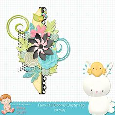 Free Digital Scrapbook Kits: Free fairy tail Blooms ''Cluster tag ""