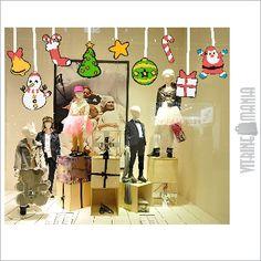 Adesivo de Vitrine de Natal na loja virtual da Vitrine Mania. #vitrine #vitrinismo #retail #visual merchandising #varejo www.vitrinemania.com.br