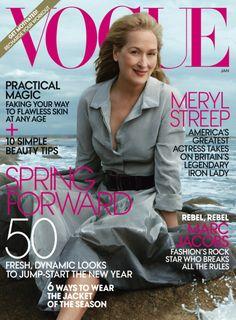 Vogue US January 2012, Meryl Streep By Annie Leibovitz