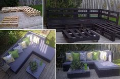 i love this...i was just thinking how i could make patio furniture for my 2nd patio..Recycle pallets and turn them into a outdoor furniture...