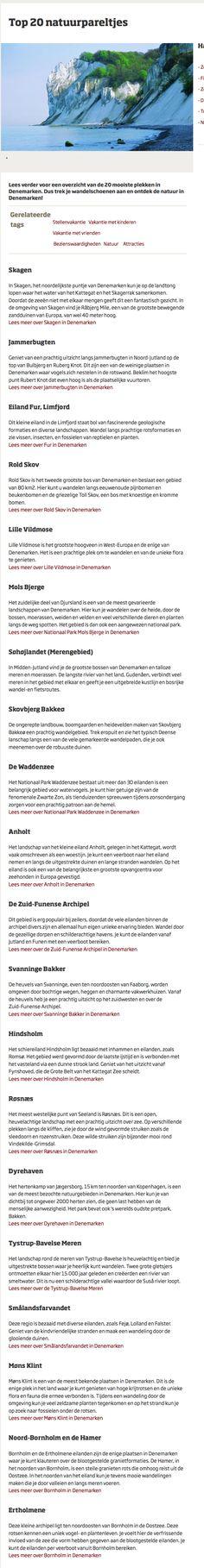 20 natuurparels in Denemarken http://www.visitdenmark.nl/nl/denemarken/attracties/top-20-natuurpareltjes