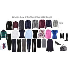 Deep or Cool Winter Capsule by katestevens on Polyvore