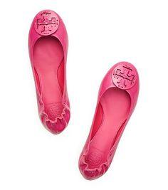 Tory Burch - patent pink ballet flats