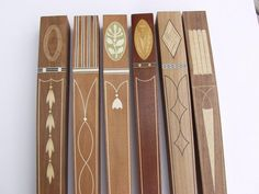 Custom inlaid table legs by Steve Latta