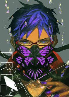 Rei Ryugazaki by Viria Manga Anime, Anime Art, Anime Mascaras, Anime Love, Anime Guys, Cyberpunk, Crossover, Rei Ryugazaki, Free Eternal Summer