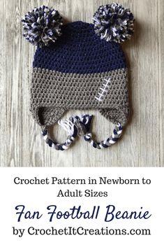 4170b0fdfef Football Spirit Wear Beanie Crochet Pattern by