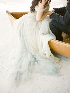 Pale blue tulle wedding dress. Islamorada - Britt + Sam - KT Merry Photography - Destination Weddings Worldwide - Fine Art Film Wedding Photography
