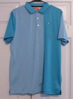 "Puma Men's Golf Shirt, Medium, ""New Wave Polo"", Blue Atoll, New With Tags #PUMA"