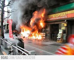 Local KFC caught fire.. when you see it