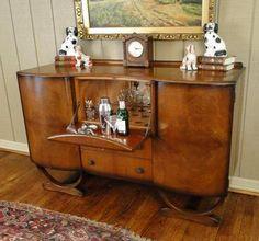 Art Deco bar liquor cabinet