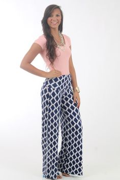 Honey Do Pants, navy $41 www.themintjulepboutique.com