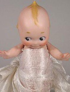 Kewpie Dolls: Bisque Antique Kewpie Doll