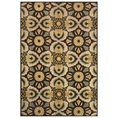 Feizy Kaleidoscope Floral Rug in Tan/Brown - www.BedBathandBeyond.com