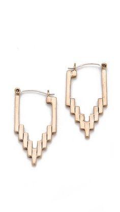delicate bar empire hoop earrings by pamela love
