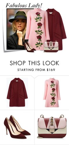 """....."" by elenb ❤ liked on Polyvore featuring Post-It, Zara, Dolce&Gabbana and Valentino"