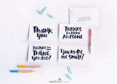 "Someone brighten your day? Use these free printable notes to say ""thank you for being you!"""