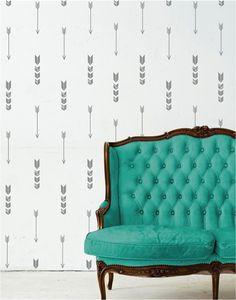 Wall Pattern Decals- Anchors - Chevron - Arrow - Polka Dots- Triangles {Jane Deals}
