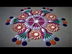 Innovative and Unique Rangoli Designs Using Spoons| Creative Rangoli by Shital Mahajan. - YouTube