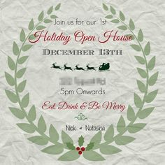 Your Guide to Hosting a Stress-Free Holiday Party. Party Invitations #christmas…