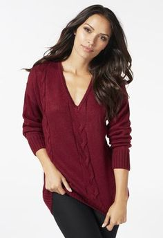 294c66fa421 Low V-Neck Sweater. Cheap SweatersCute SweatersSweaters For WomenCable KnitLong  ...