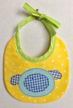 Baby Bibs-Baby Boy-Baby Girl-Drool Bib-Dribble Bib-Unisex Bib-Adjustable Bib-Baby Shower Gift-Baby Gift-Newborn Gift-Yellow polka Dot Bib-An