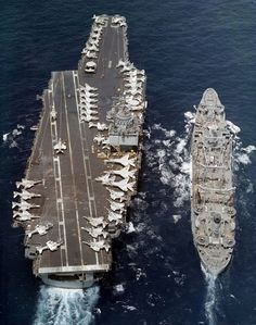USS Enterprise and USS Hassayampa 1973 - USS Enterprise - Wikipedia, the free encyclopedia Uss Kearsarge, Uss America, Uss Enterprise Cvn 65, Navy Carriers, F4 Phantom, Navy Aircraft Carrier, Go Navy, Us Navy Ships, Navy Military