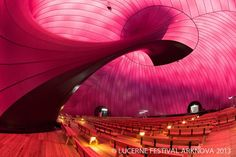 This traveling concert hall is inflatable, purple, and holds up to 500 people. It will be touring Tsunami-affected regions in Japan.