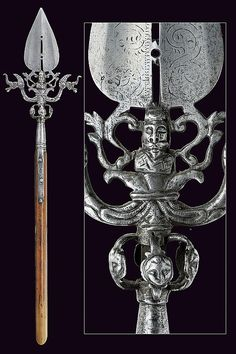 A beautiful linstock, provenance: North Italy  dimensions: height 81 cm.  dating: 17th Century