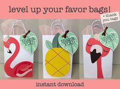 Flamingo Favor Bag Pineapple Favor Bag DIY Flamingo Favor