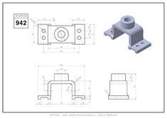 Drawing Exercises, 3d Drawings, Drawing Practice, 3d Modeling, Technical Drawing, Autocad, Industrial Design, Cnc, Geometry